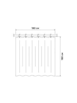 Штора для ванной комнаты 180*180 IDDIS P33PV11i11