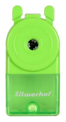 Точилка для карандашей механическая Silwerhof 192009 Солнечная коллекция 1 отверстие зелен