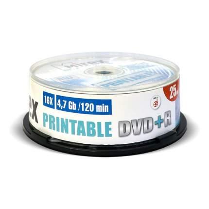 DVD+R диск Mirex 4,7Gb 16x Cake Box 25 шт Printable
