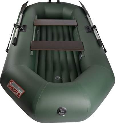 Лодка Шкипер А260 (надувное дно) (зеленый)