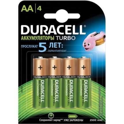 Аккумуляторная батарея Duracell Turbo HR6-4BL 4 шт