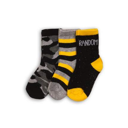 Носки детские 3 пары MINOTI, цв. серый; черный р.16