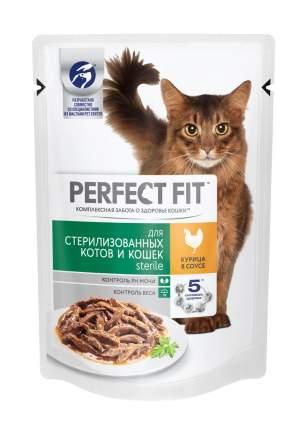 Влажный корм для стерилизованных кошек Perfect Fit Sterile с курицей в соусе, 24 шт по 85г