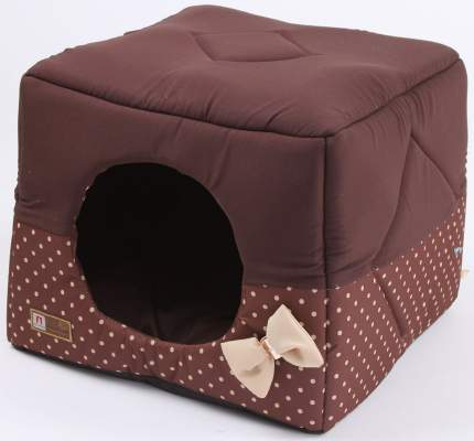 Домик для кошек и собак ЗООГУРМАН Домосед шоколадный, 45x45x45см
