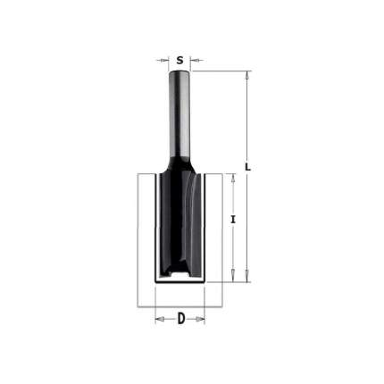 Фреза CMT Ф12мм S8мм I31.7мм (K912-120)