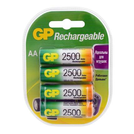 Аккумуляторная батарея GP АА (HR6) 2500 мАч, 4 шт