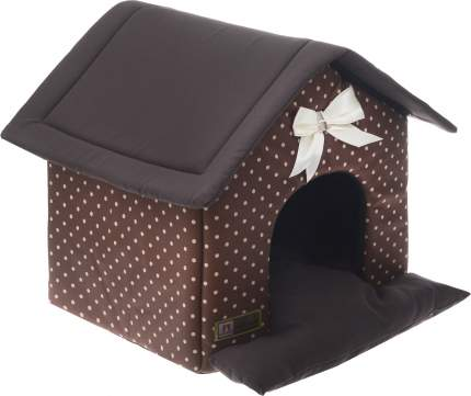 Домик для кошек и собак ЗООГУРМАН Ампир шоколадный, 45x40x45см