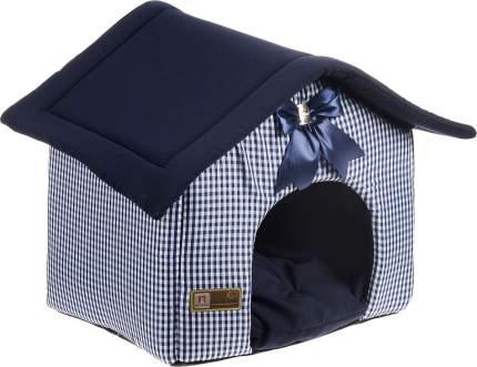 Домик для кошек и собак ЗООГУРМАН Ампир, синий, 40x45x45см