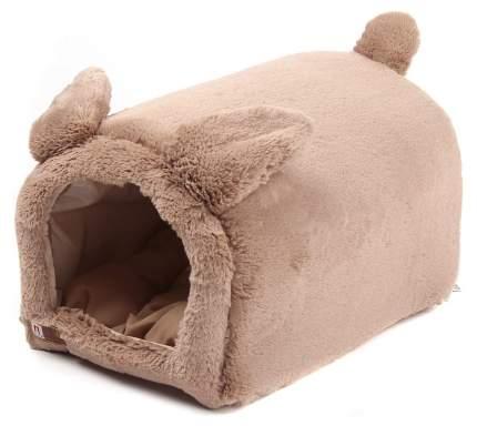 Домик для кошек и собак ЗООГУРМАН Teddy bear, бежевый, 50x35x30см