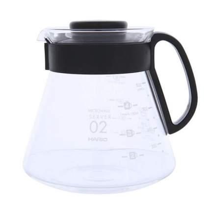 Чайник сервировочный HARIO с черной пластиковой ручкой 600мл XVD-60B