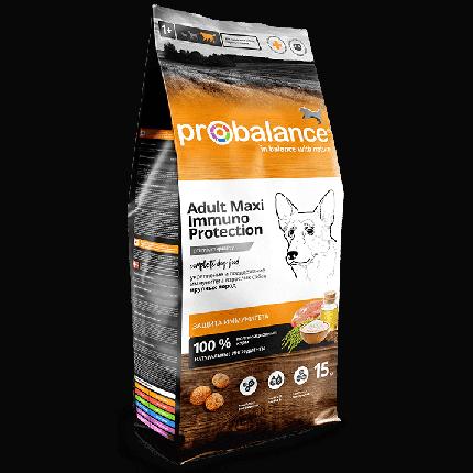 Сухой корм для собак крупных пород Probalance Immuno Adult Maxi, защита иммунитета, 15 кг