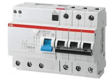 Дифференциальный автоматический выключатель ABB DS203 5мод. 16А 30mA 6kA(АС)