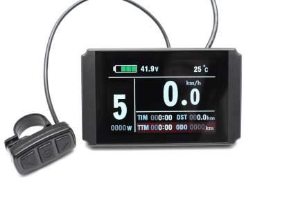 Панель управления LCD KT 8 цветной горизонтальный для электровелосипеда