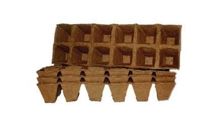 """Торфяной горшочек """"Умный огород"""", 70x70 мм, 24 штуки, 3 блока по 8 ячеек."""