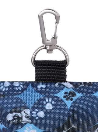 Сумочка-диспенсер для уборочных пакетов для собак Монморанси Прогулка, синий, 10х5 см