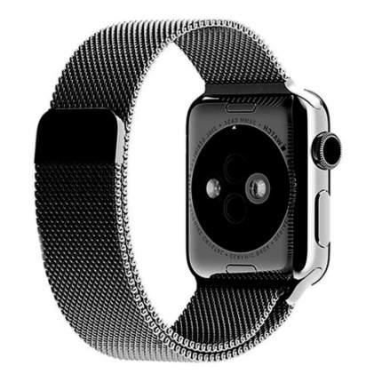 Ремешки Apple Watch 1, 2, 3 Series 42mm, 4 Series 44 mm металлические, сетчатый <черный>