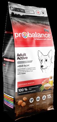 Сухой корм для собак Probalance  Immuno Adult  Active, высокая активность, 15 кг
