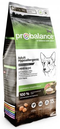 Сухой корм для собак Probalance Hypoallergenic, чувствительное пищеварение, 15 кг