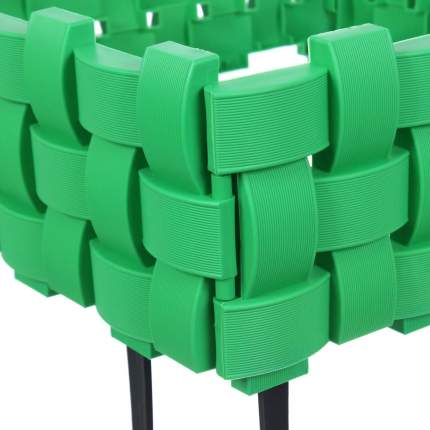 Ограждение садовое Плетенка 2,4м, цвет зеленый
