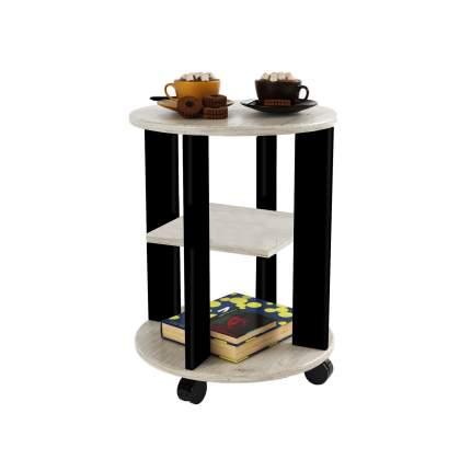 Деревянный сервировочный столик на колесиках МО РОСТ Стол кофейный Премьера Пикард, Черный