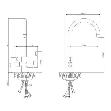 Смеситель для кухни OLIVE'S BALEAR 13440BL