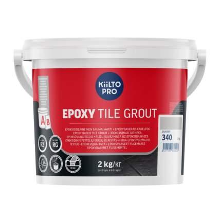 Эпоксидная затирка Kiilto Epoxy Tile grout 340 silk grey, цвет: шелковисто-серый,