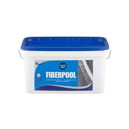 Гидроизоляционная мастика для влажных помещений Kiilto Fiberpool, 14 кг.
