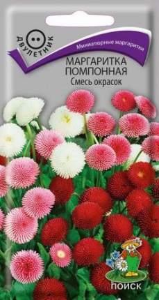Семена цветов Поиск 360252 Маргаритка помпонная Смесь окрасок 0,05 г