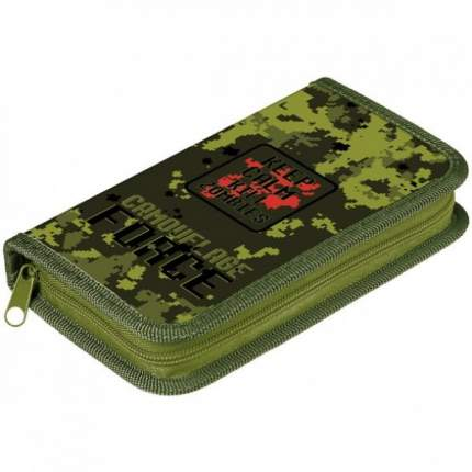 Пенал Hatber 1 отделение на молнии Camouflage Force 190х115мм