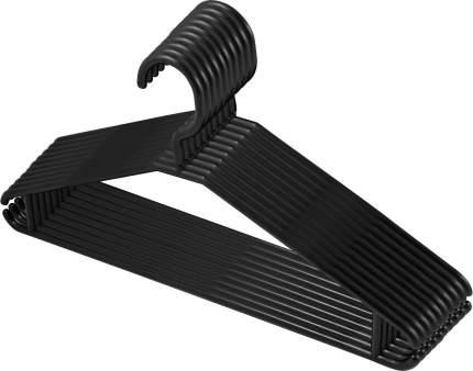 Вешалки для одежды Plast Team MULTI 10 шт. 415х70х205 мм черные