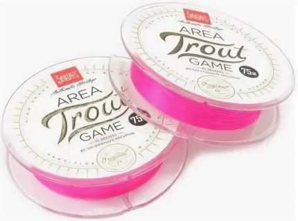 "Леска монофильная Lucky John ""Area Trout Game Fluorocarbon"" 075/025, розовая"