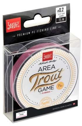 "Леска монофильная Lucky John ""Area Trout Game Fluorocarbon"" 075/028, розовая"
