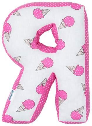 "Мягкая буква подушка ""Я"" 35х26 см, розовый, 100% хлопок, холлофайбер Крошка Я"