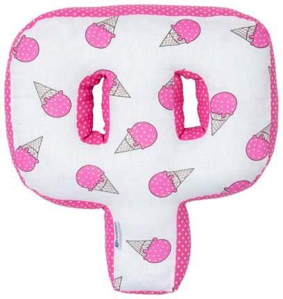 "Мягкая буква подушка ""Ф"" 35х33 см, розовый, 100% хлопок, холлофайбер Крошка Я"