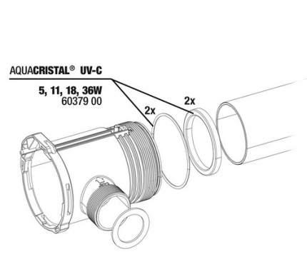 Комплект уплотнительных прокладок JBL ProCristal UV-C Gasket kit для ProCristal UV-C