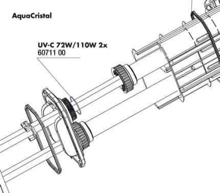 Уплотнительное кольцо кварцевой колбы JBL для УФ-стерилизаторов AquaCristal UV-C 72/110W