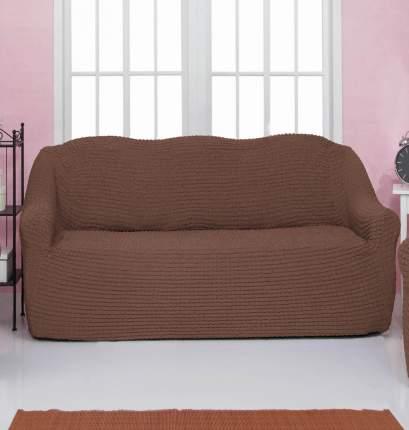 Чехол на трехместный диван без оборки CONCORDIA, цвет коричневый