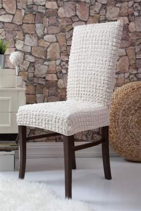 Чехол на стул без оборки Venera, молочный, 1 предмет