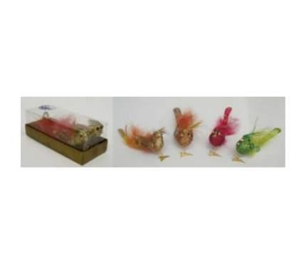 Набор елочных игрушек Snowmen Птичка с Хохолком Е70594 8 см 2 шт. в ассортименте
