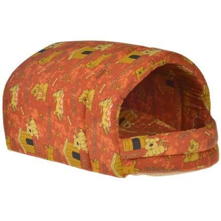 Домик для кошек и собак Бобровый Дворик Эстрада глубокая №2, оранжевый, 67x44x36см