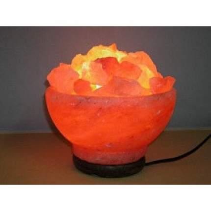 Солевой светильник 'Ваза с камнями'