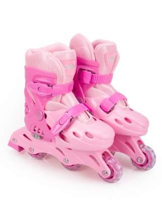 Роликовые коньки SXRIDE раздвижные YXSKT01 розовые, р.S (31-34)