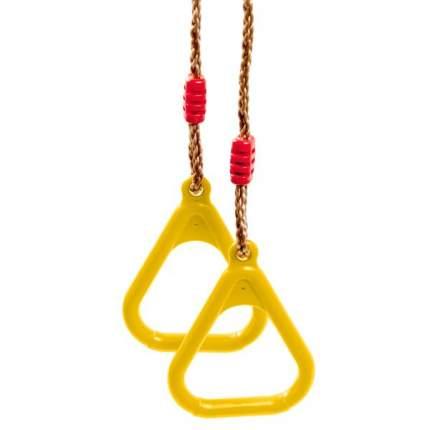 Кольца гимнастические на веревках, желтый