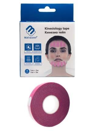 Кинезио тейп для лица Matwave 1см x 5м, розовый
