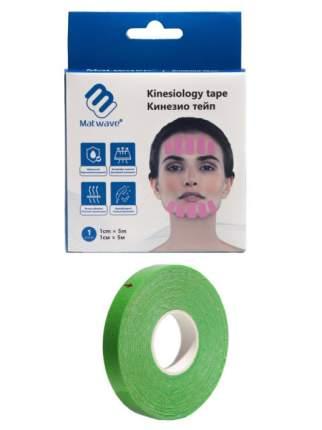 Кинезио тейп для лица Matwave 1см x 5м, зеленый
