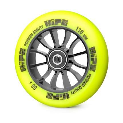Колесо для самоката Hipe 01 110 мм черное/желтое