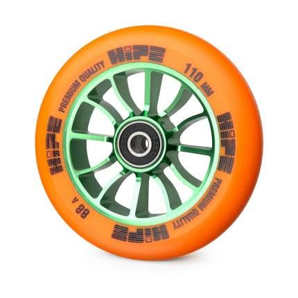 Колесо для самоката Hipe 01 110 мм зеленое/оранжевое