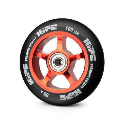 Колесо для самоката Hipe 5-Spoke 100 мм красное/черное