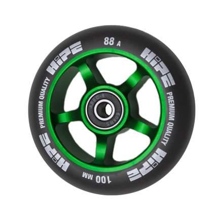 Колесо HIPE 5-Spoke  100mm зеленый/черный