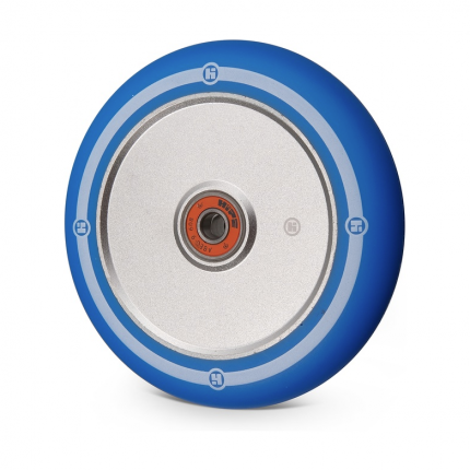 Колесо Hipe Flat Solid logo 120мм серебро/синий